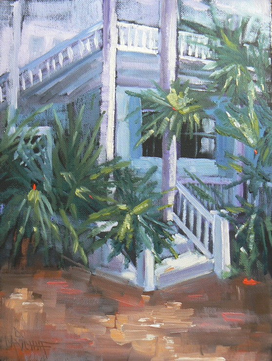 """WELCOME TO PARADISE, 8X6, OIL"" original fine art by Carol Schiff"