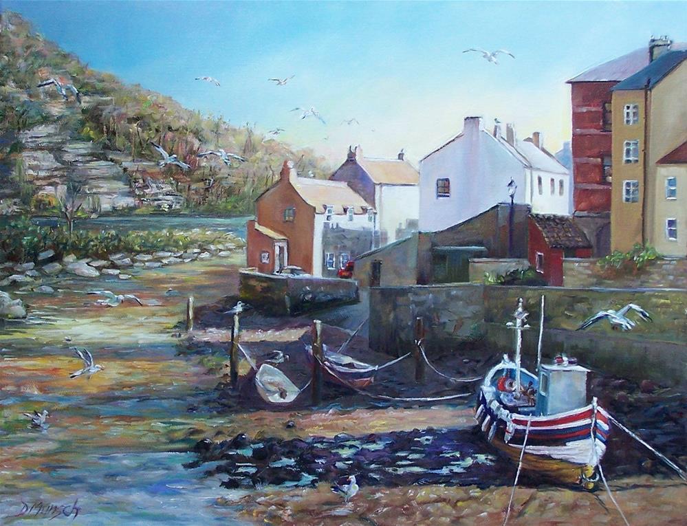 """""""Low Tide"""" original fine art by Donna Munsch"""