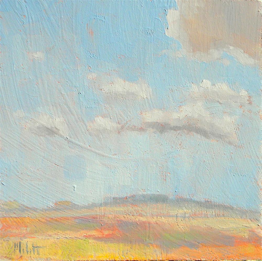 Southwest Desert Sky  Clouds Contemporary Impressionism original fine art by Heidi Malott