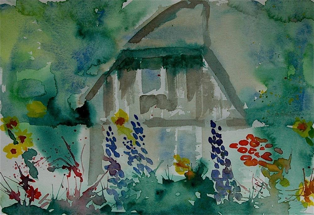 """Rittersporn - (Delphinium)"" original fine art by Ulrike Schmidt"