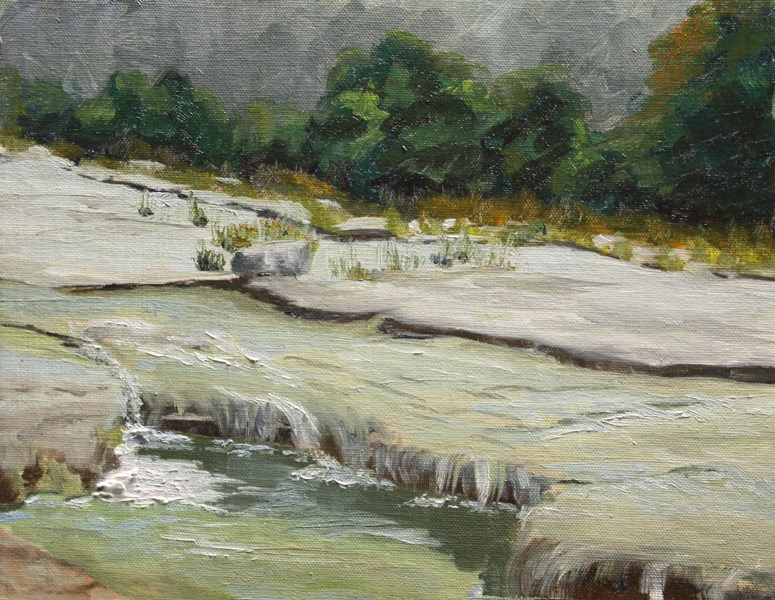 """Bull Creek Again"" original fine art by Jane Frederick"