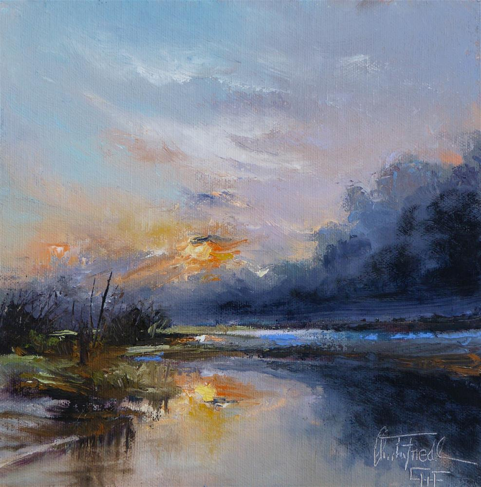 """""""Sunset – Sonnenuntergang"""" original fine art by Christa Friedl"""