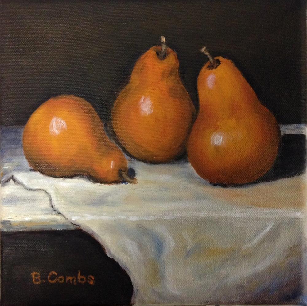 """Pears IV"" original fine art by Bebe Combs"