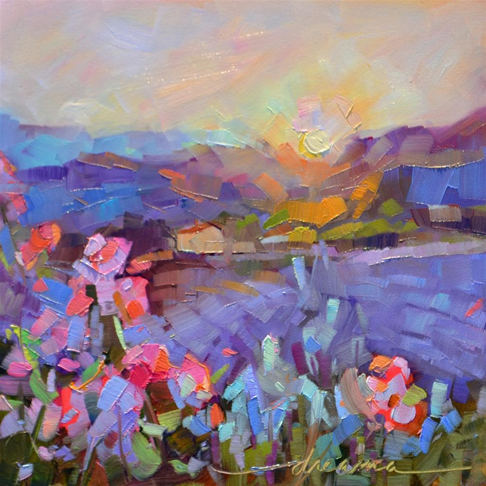 """Afterglow"" original fine art by Dreama Tolle Perry"