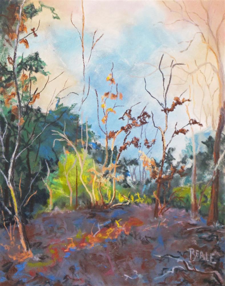 """Sunrise on the River Bluff"" original fine art by  David Beale"