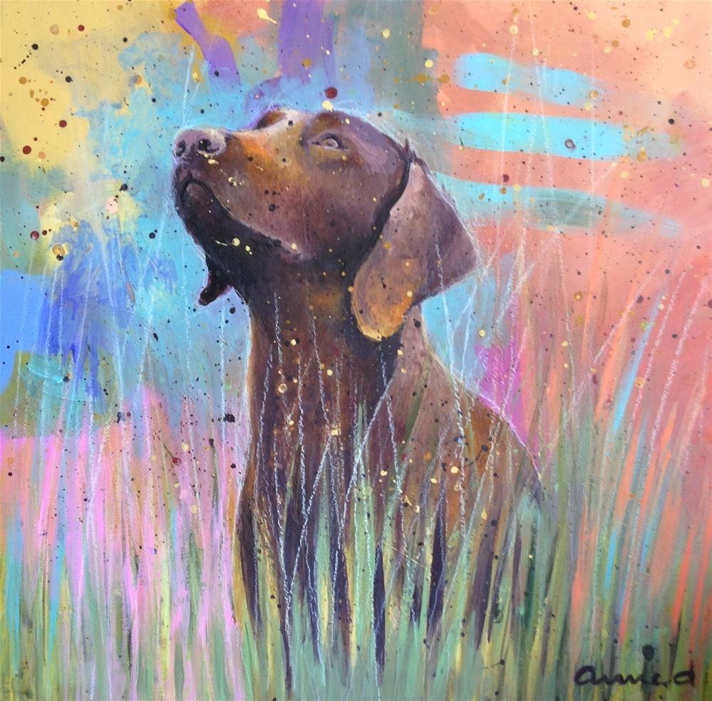 """Lucy in the sky..."" original fine art by Anne Ducrot"
