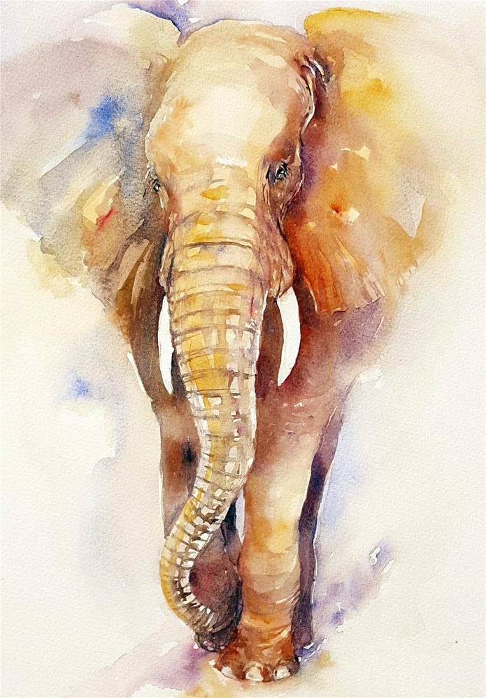 """Gentle George II"" original fine art by Arti Chauhan"