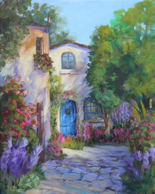 """Village Gardens"" original fine art by Sue Cervenka"
