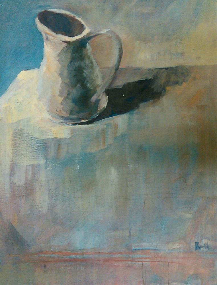 """Pitcher"" original fine art by Ann Rudd"