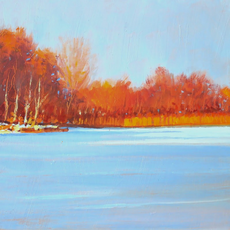 """Evening Light"" original fine art by Ken Devine"