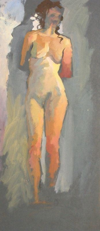 """Nude colour study"" original fine art by Peter Orrock"