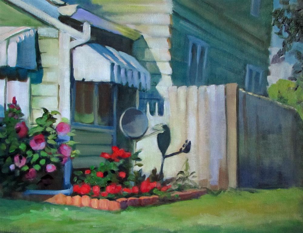 """Hibiscus and Dish"" original fine art by Susan Suraci"