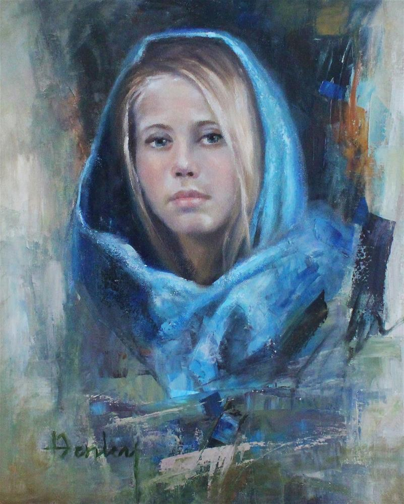 """Blue Pashmina"" original fine art by Denise Henley"