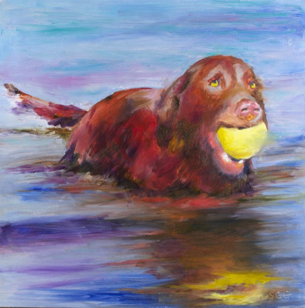 """Got it!"" original fine art by Sue Churchgrant"