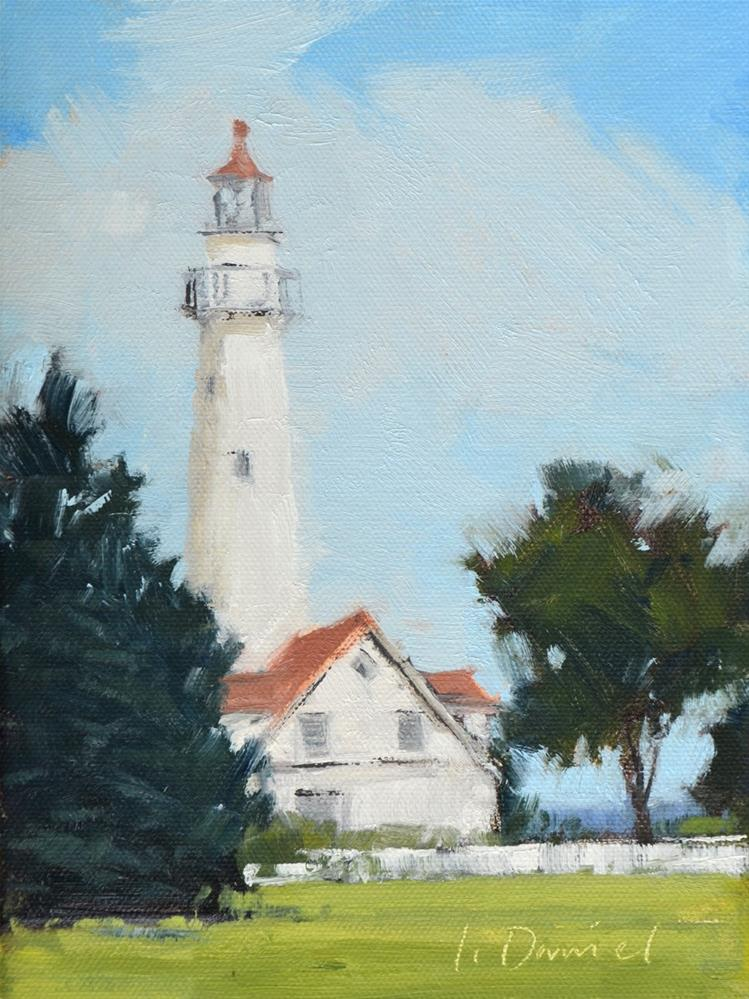 """Wind Point Lighthouse - Racine, Wisconsin"" original fine art by Laurel Daniel"