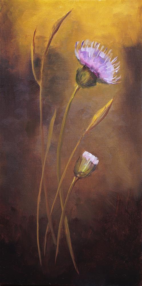 """""""Thistles"""" original fine art by Catherine Van Berg"""