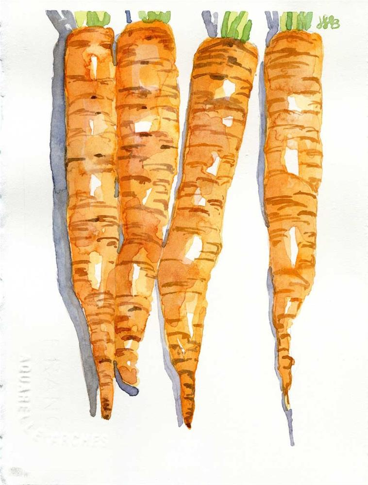 """""""Carrot Top"""" original fine art by Heather Bennett"""