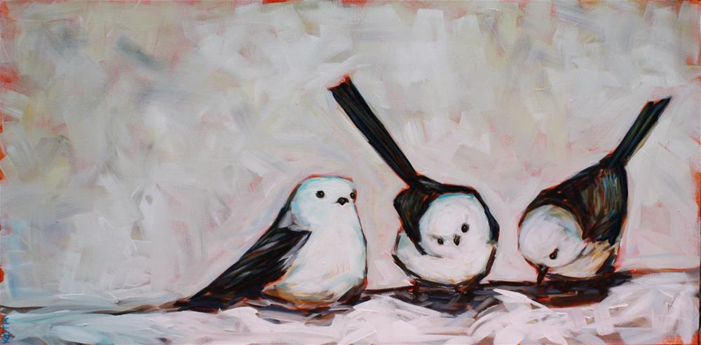 """Three Bigger Birds"" original fine art by Kandice Keith"