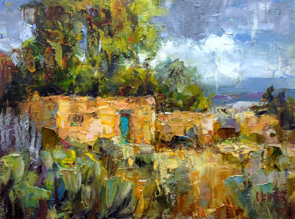 """New Mexico Adobe"" original fine art by Julie Ford Oliver"