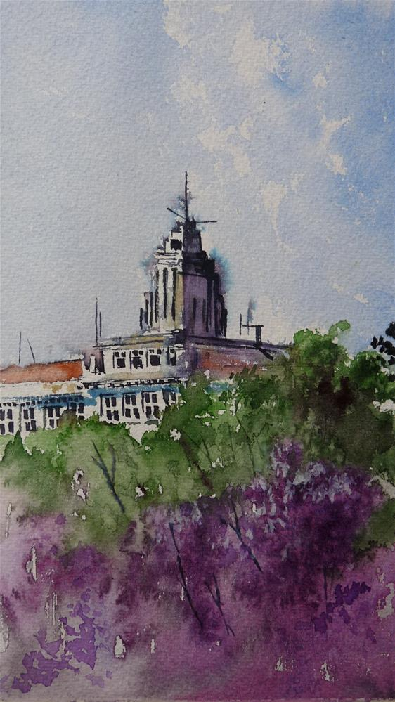 """Spring at the Naval College"" original fine art by Martin Stephenson"