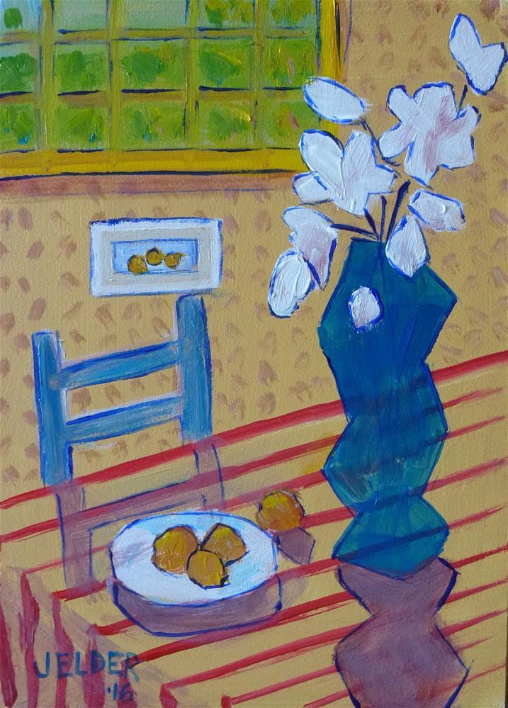 """Trying to Think Like Matisse"" original fine art by Judith Elder"