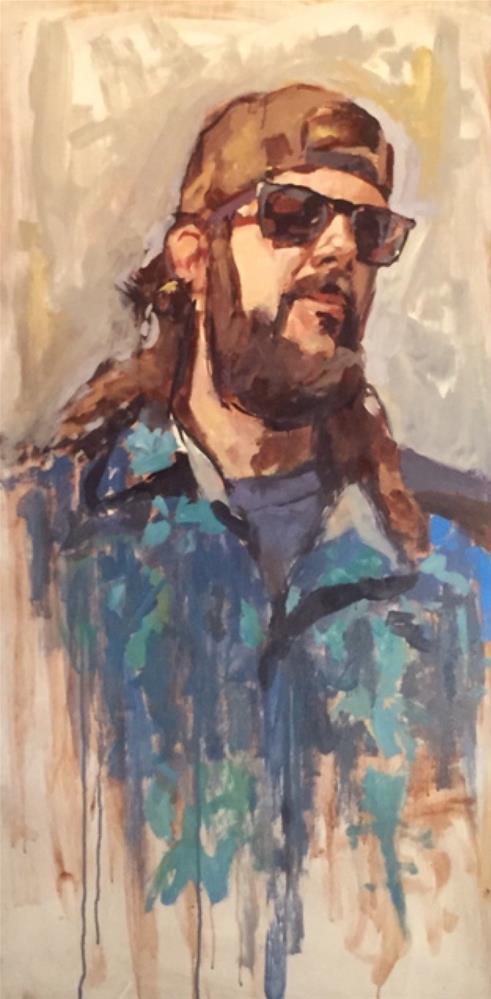 """John"" original fine art by Chris Long"