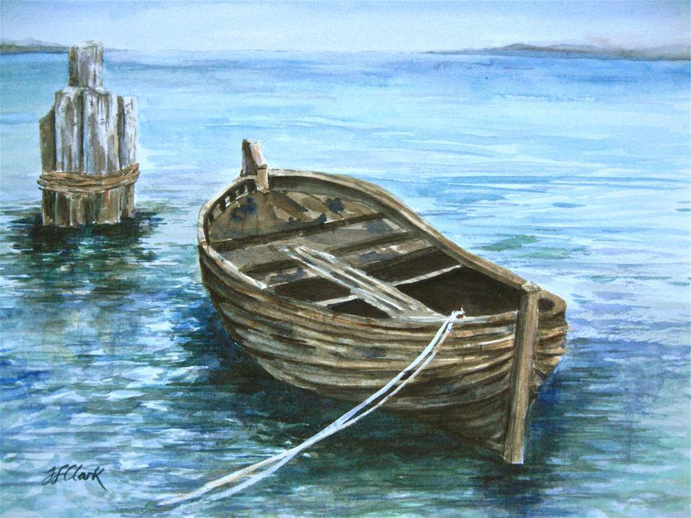 """Mayflower shallop"" original fine art by Judith Freeman Clark"