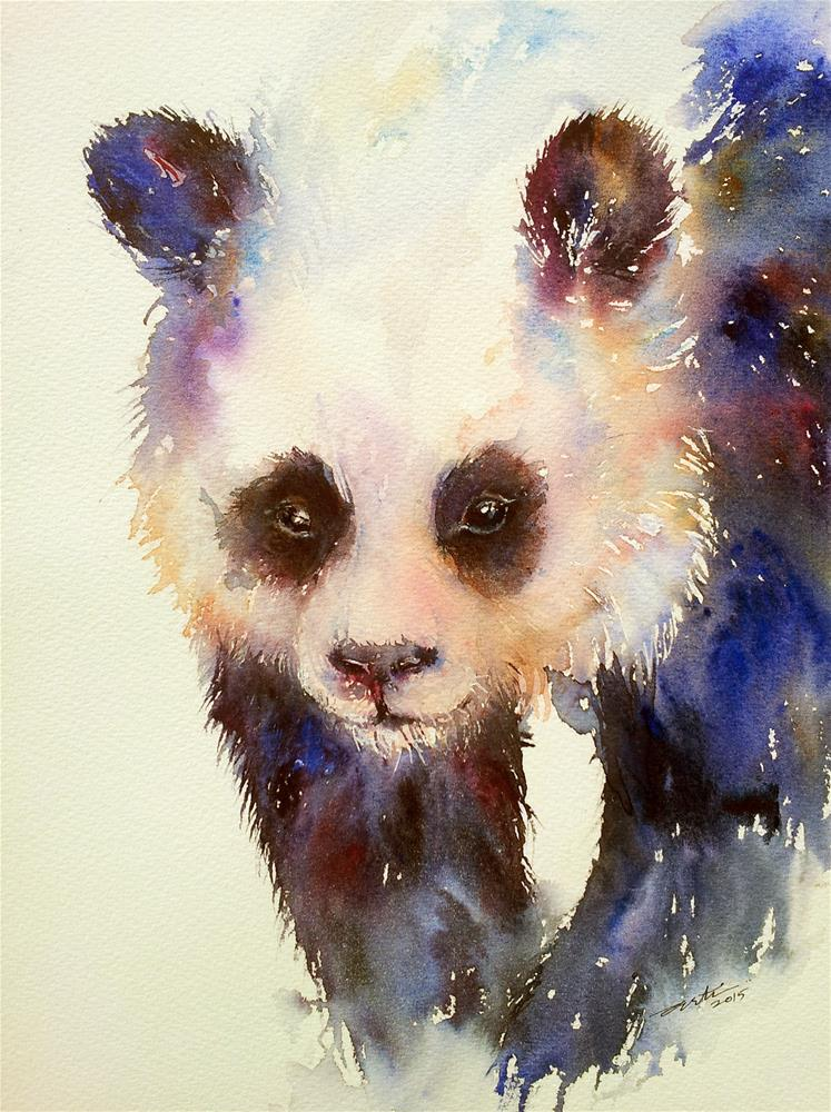 """Purple Panda III"" original fine art by Arti Chauhan"
