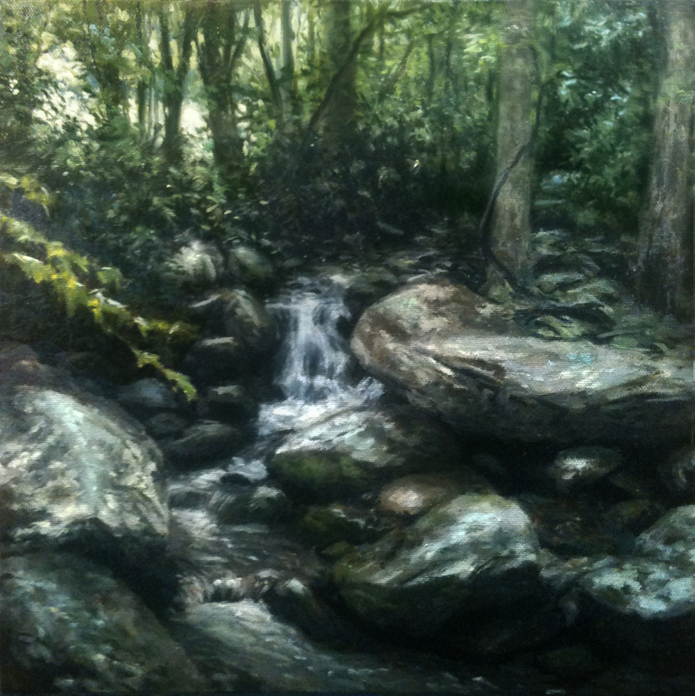 """Stream Along the Forest Edge"" original fine art by Danny O'Leary"