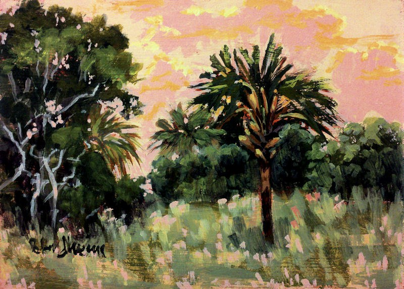 """Anastasia Palms"" original fine art by Linda Blondheim"