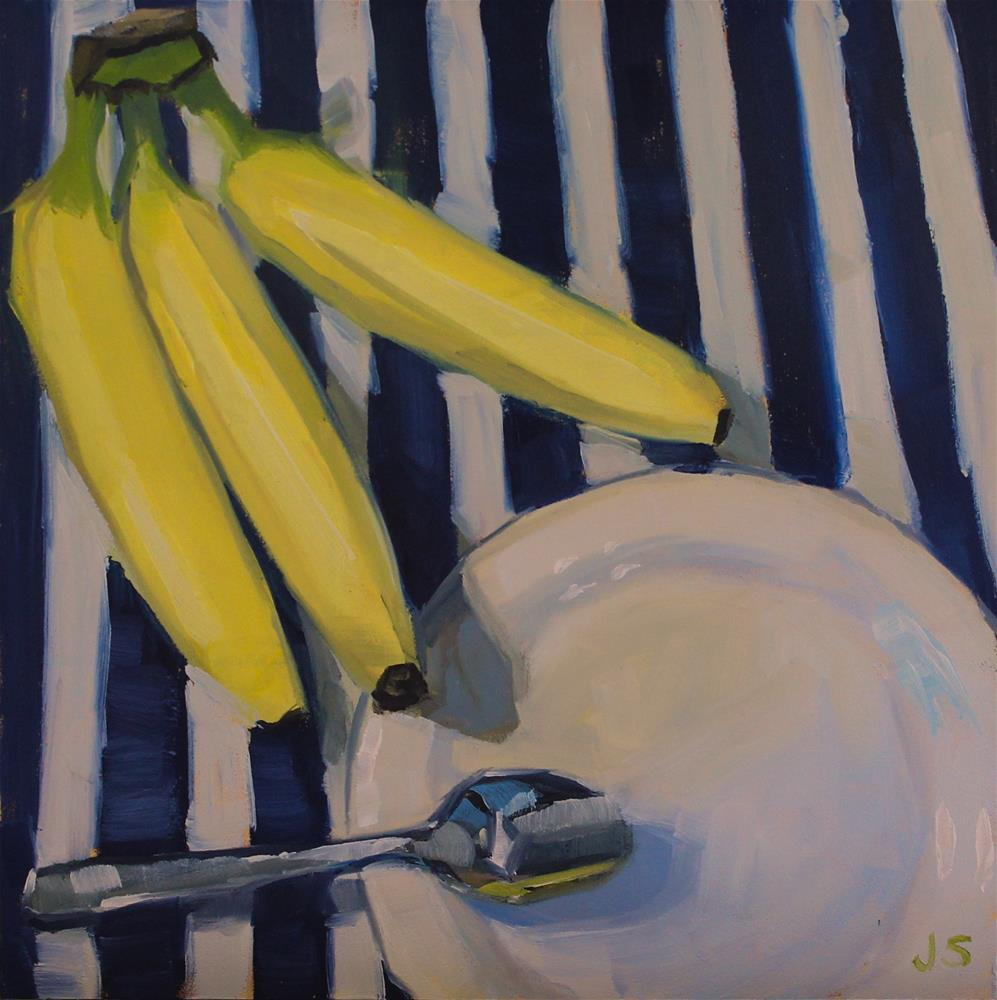 """Banana Lunch"" original fine art by Jamie Stevens"