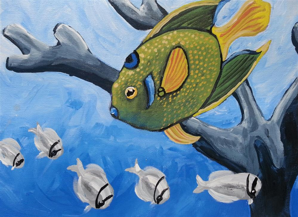 """Lovely Sea Creatures"" original fine art by Phyllisha Hamrick"
