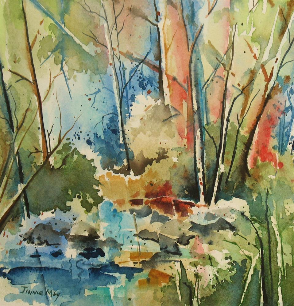 """Hacklebarney Park, NJ"" original fine art by Jinnie May"