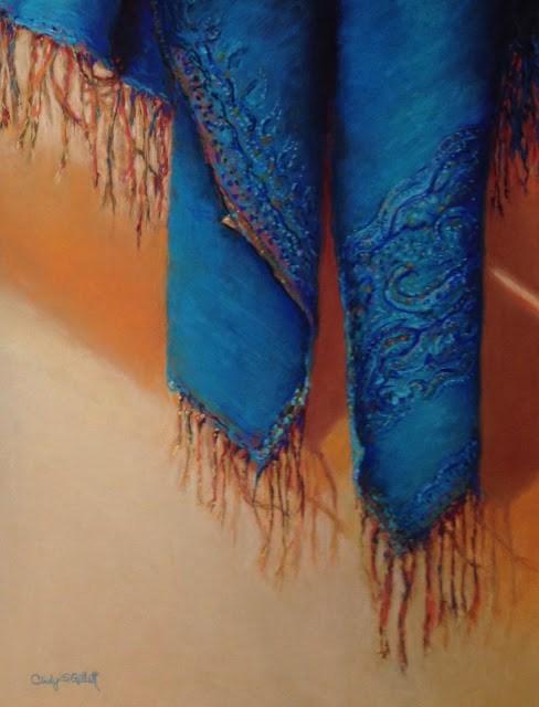 """""""Hanging Around"""" original fine art by Cindy Gillett"""