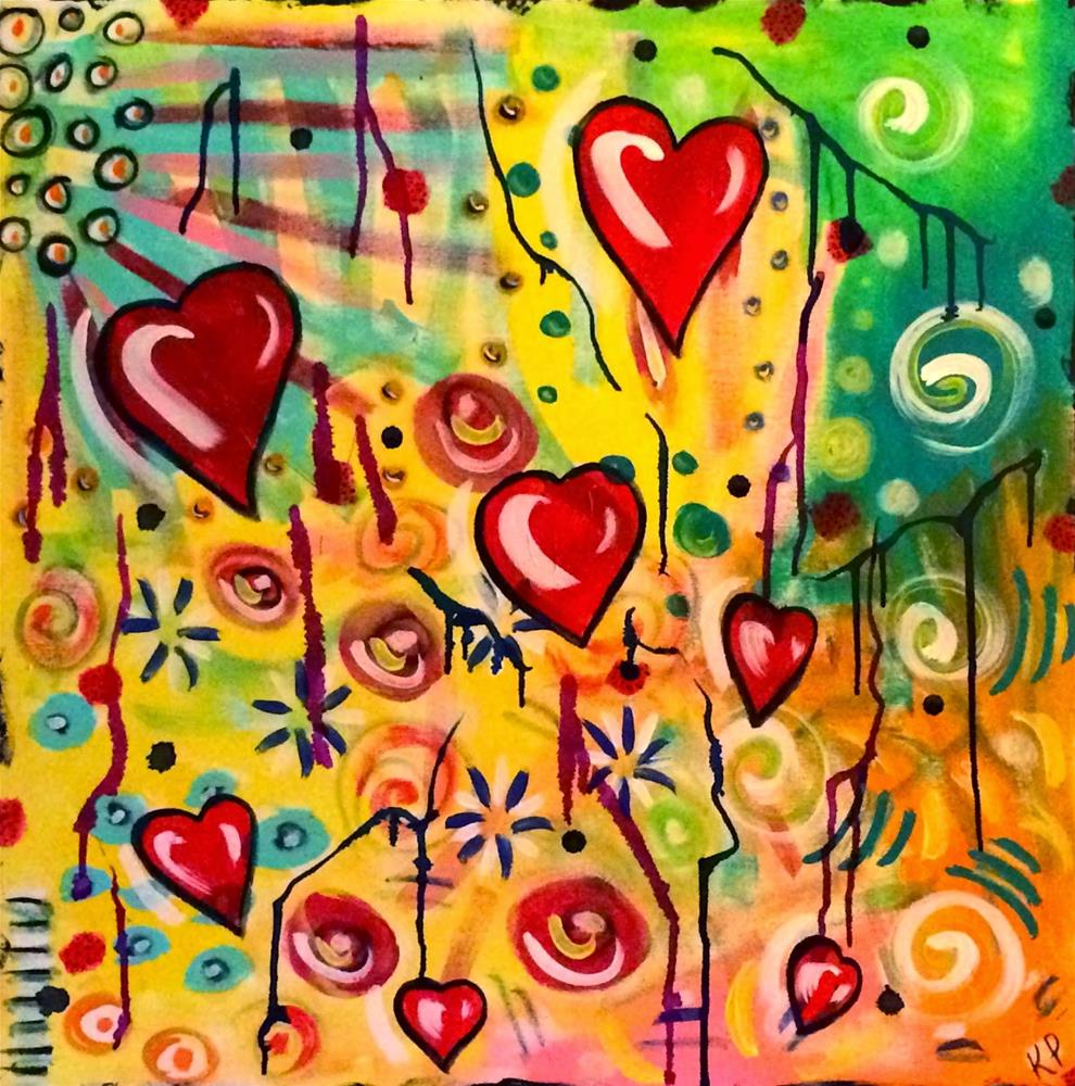 """Love and Light"" original fine art by Kali Parsons"