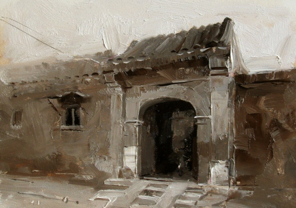 """On a Beijing Street 4"" original fine art by Qiang Huang"