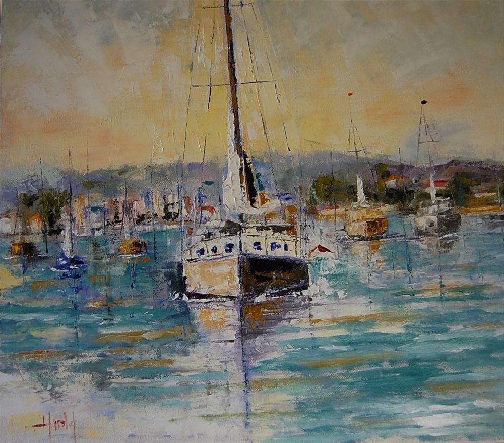 """""""Leaving Balboa"""" original fine art by Deborah Harold"""