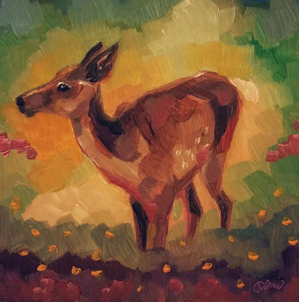 """Young Deer"" original fine art by Leni Tarleton"