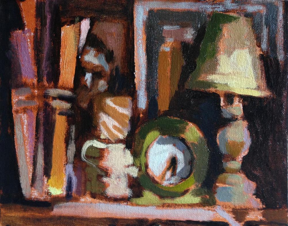 """Studio Shelf"" original fine art by Pamela Hoffmeister"