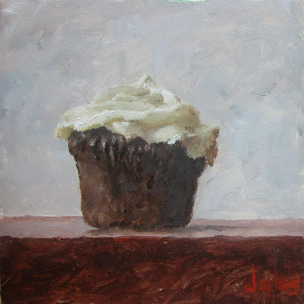 """Chocolate Cupcake"" original fine art by Richard Jones"