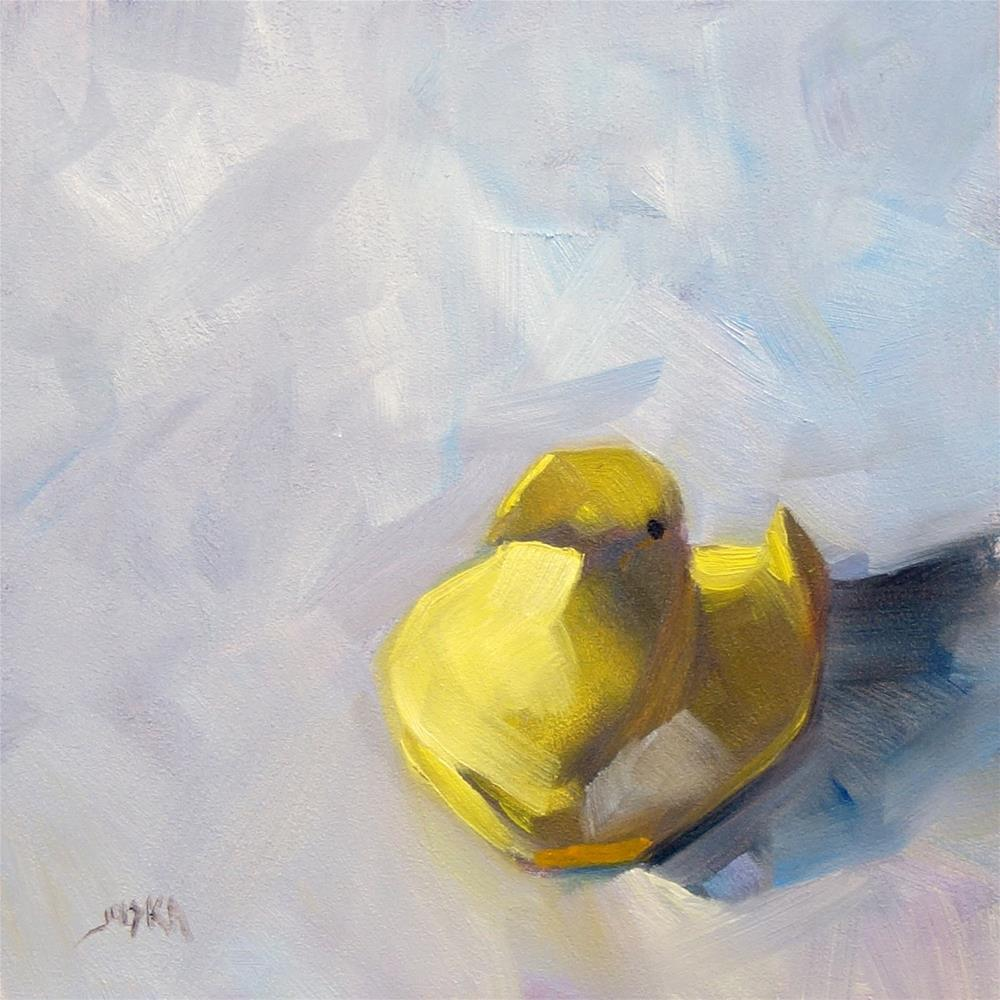 """Easter Peep"" original fine art by Elaine Juska Joseph"