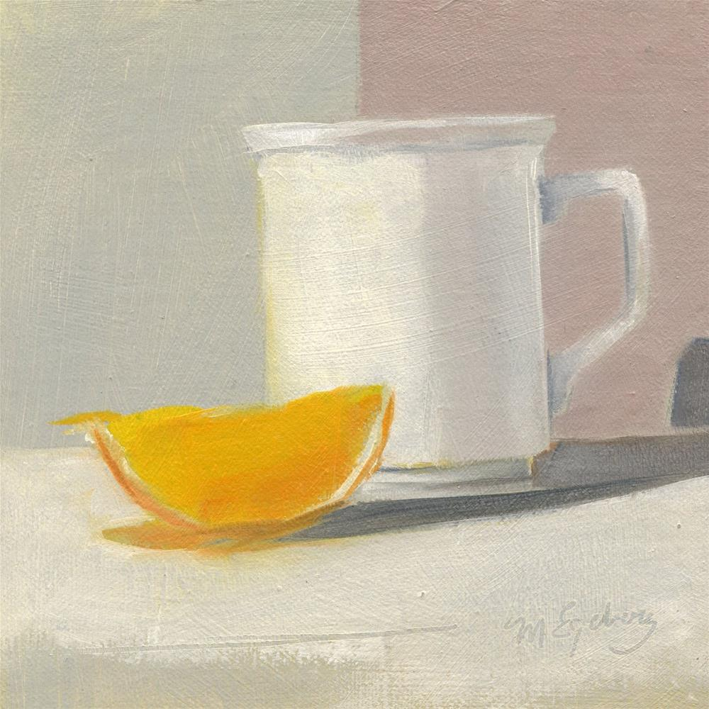 """One Slice and a Cup"" original fine art by Mitch Egeberg"