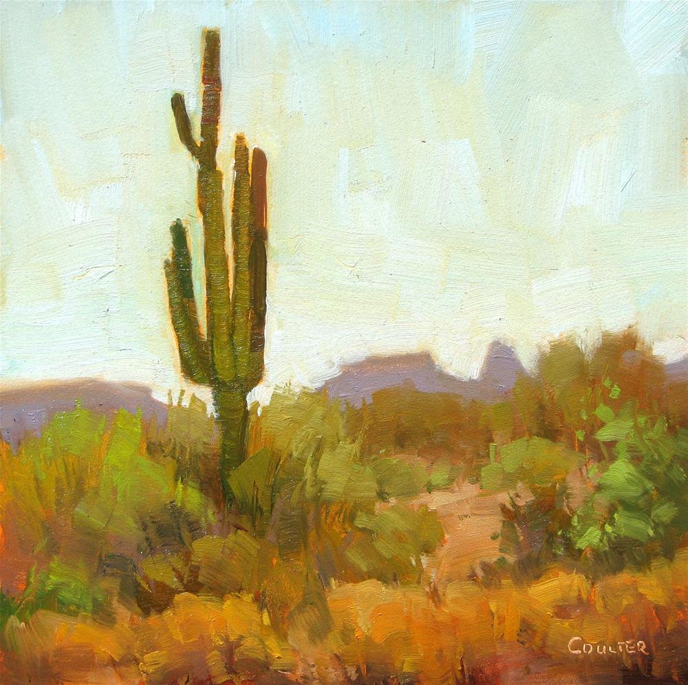 """SAGUARO PURPLE MTN"" original fine art by James Coulter"