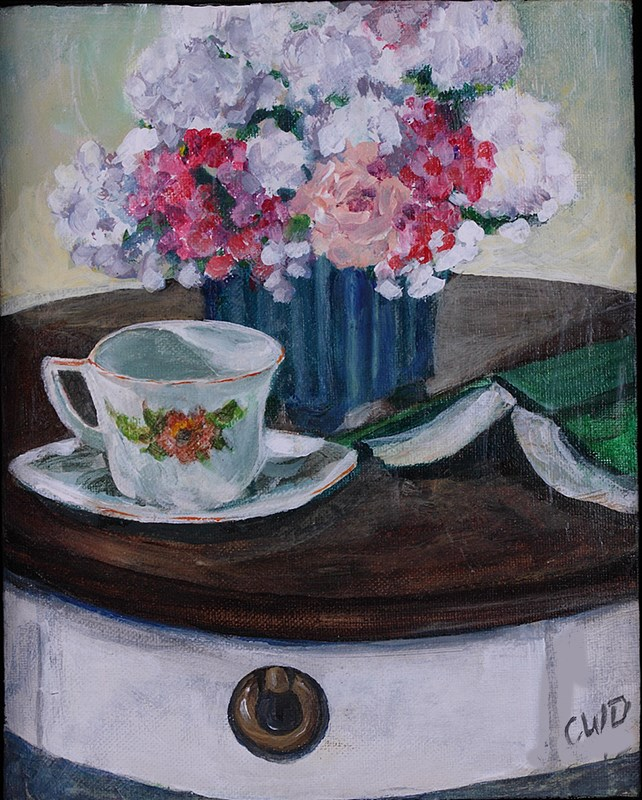 """Nora's Table"" original fine art by Cheryl Williams Dolan"