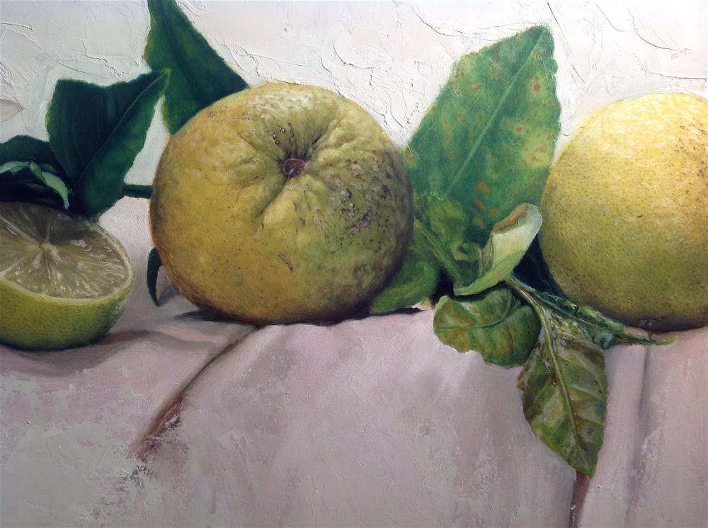 """""""Citrus – work in progress"""" original fine art by Paulo Jimenez"""