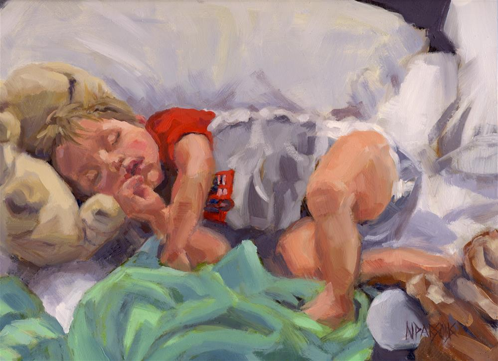 """Snug As A Bug"" original fine art by Nancy Parsons"