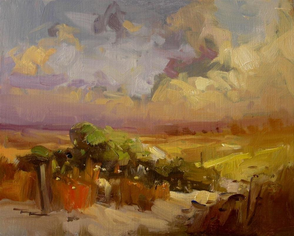 """Sunset Dunes"" original fine art by Richard Robinson"