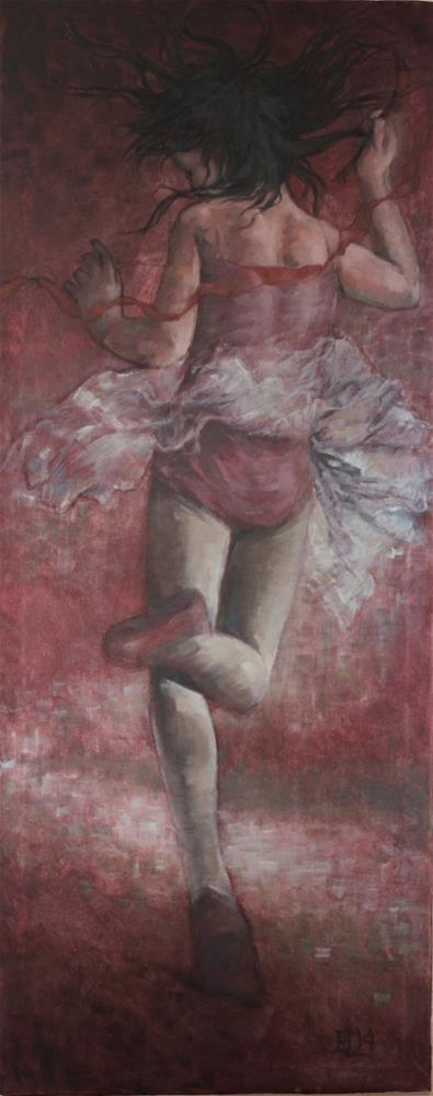 """The Red Ribbon"" original fine art by Emilia Leinonen"