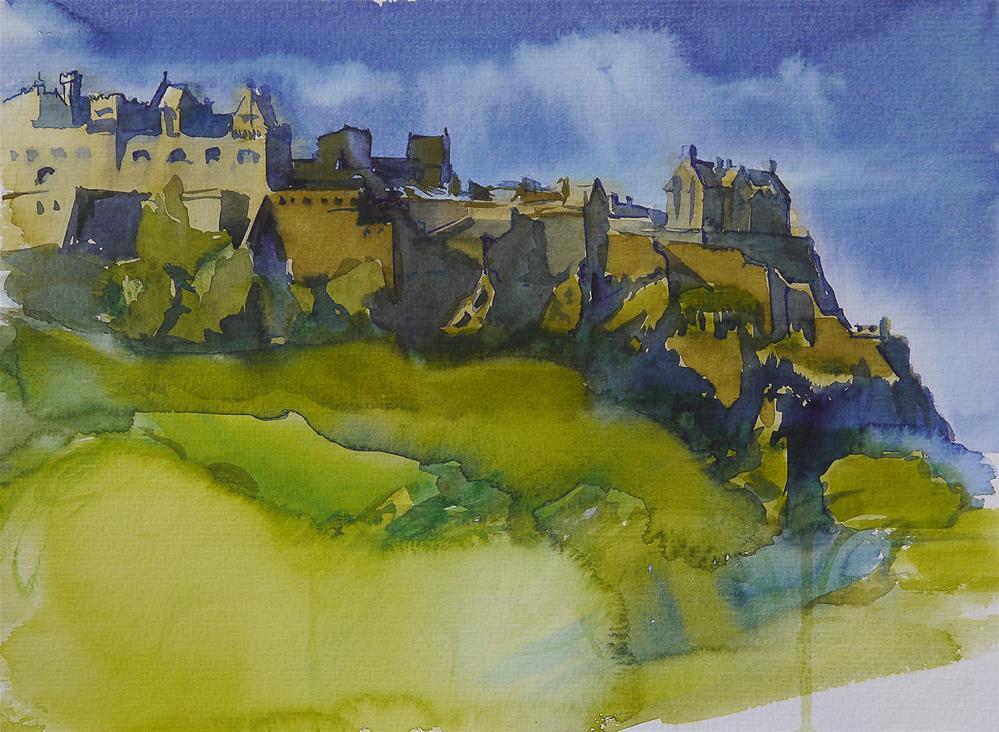 """edinburgh castle"" original fine art by Beata Musial-Tomaszewska"