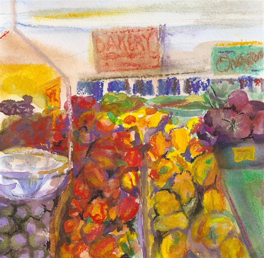 """Market"" original fine art by Jean Krueger"